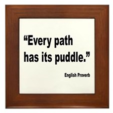 Every Path English Proverb Framed Tile