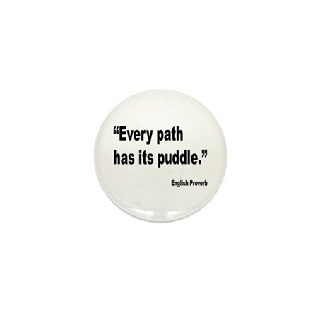 Every Path English Proverb Mini Button (10 pack)
