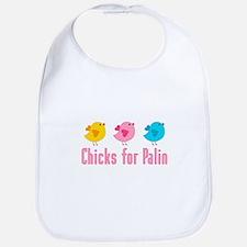 Chicks for Palin Pink Bib