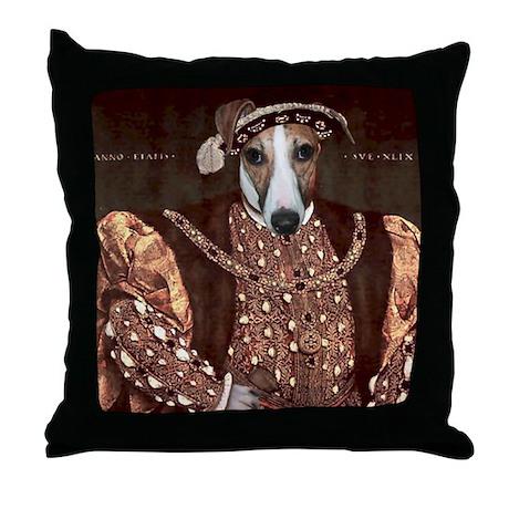 Whippet HENRY VIII Throw Pillow