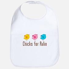 Chicks for Palin Brown Bib