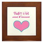 BABY GIRL Framed Tile