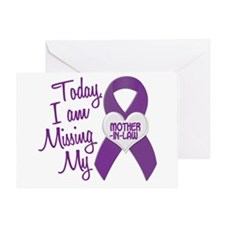 Missing My Mother-In-Law 1 PURPLE Greeting Card