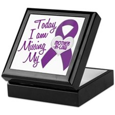Missing My Mother-In-Law 1 PURPLE Keepsake Box