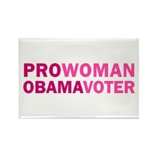 Pro-Woman Obama Voter Rectangle Magnet