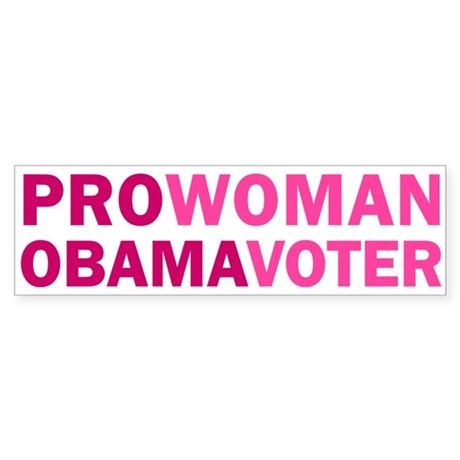 Pro-Woman Obama Voter Bumper Sticker