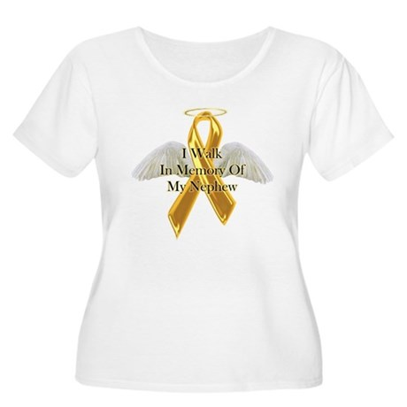 Childhood Cancer Women's Plus Size Scoop Neck T-Sh