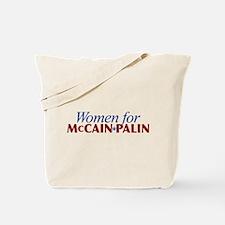 Women for McCain Palin Tote Bag