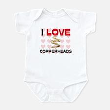 I Love Copperheads Infant Bodysuit