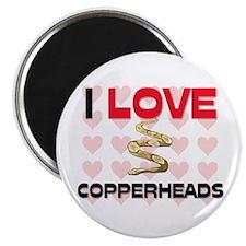 I Love Copperheads Magnet