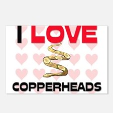 I Love Copperheads Postcards (Package of 8)