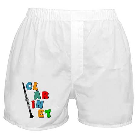 Colorful Clarinet Boxer Shorts
