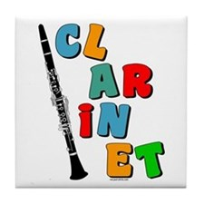 Colorful Clarinet Tile Coaster