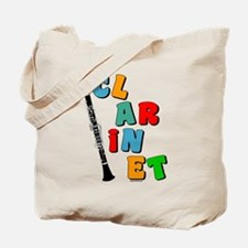 Colorful Clarinet Tote Bag