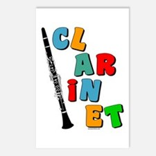 Colorful Clarinet Postcards (Package of 8)