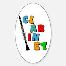 Colorful Clarinet Oval Decal