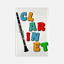 Colorful Clarinet Rectangle Magnet