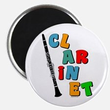 """Colorful Clarinet 2.25"""" Magnet (100 pack)"""