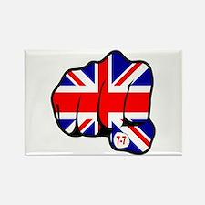 Union Jack Fist 7/7 Rectangle Magnet