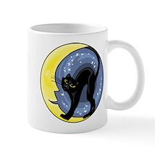 Black Cat & Moon Mug