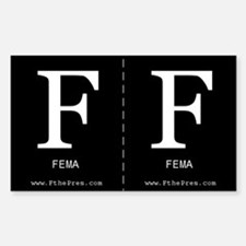 F FEMA Sticker (2 per sheet - you cut)