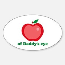 Apple of Daddy's Eye Oval Decal