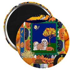 Scrapbook Shih Tzu Halloween Magnet