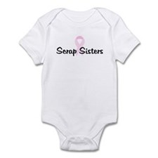 Scrap Sisters pink ribbon Infant Bodysuit