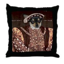 Chihuahua HENRY VIII Throw Pillow