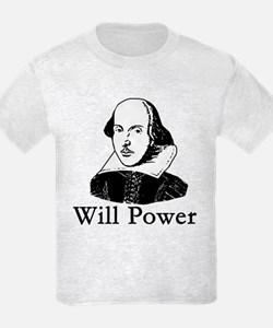 William Shakespeare WILL POWER T-Shirt