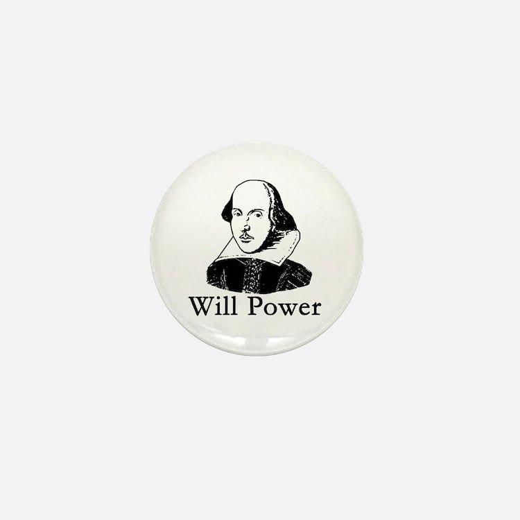 William Shakespeare WILL POWER Mini Button