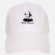 William Shakespeare WILL POWER Baseball Baseball Cap