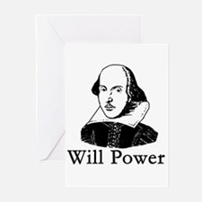 William Shakespeare WILL POWER Greeting Cards (Pk