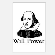 William Shakespeare WILL POWER Postcards (Package