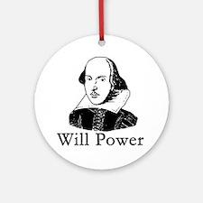 William Shakespeare WILL POWER Ornament (Round)