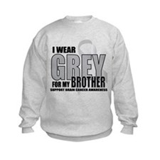 Brain Cancer: Grey For Brother Sweatshirt
