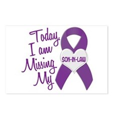 Missing My Son-In-Law 1 PURPLE Postcards (Package