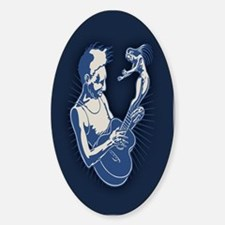 Blues Muse Oval Decal