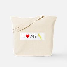 I Love My Cockatiel (Lutino) Tote Bag