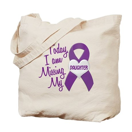 Missing My Daughter 1 PURPLE Tote Bag