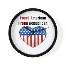 Proud American Proud Republic Wall Clock
