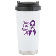 Missing My Son 1 PURPLE Travel Mug