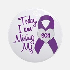 Missing My Son 1 PURPLE Ornament (Round)