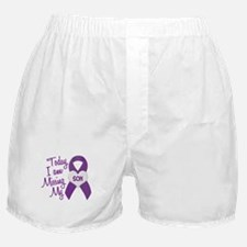 Missing My Son 1 PURPLE Boxer Shorts