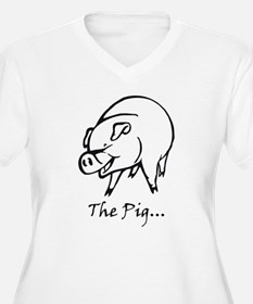 the pig_edited-1 Plus Size T-Shirt
