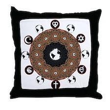 COEXIST Throw Pillow