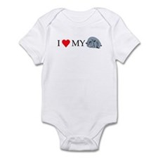I Love My Pot Bellied Pig 2 Infant Bodysuit