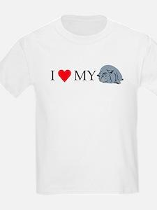I Love My Pot Bellied Pig 2 T-Shirt