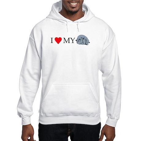 I Love My Pot Bellied Pig 2 Hooded Sweatshirt