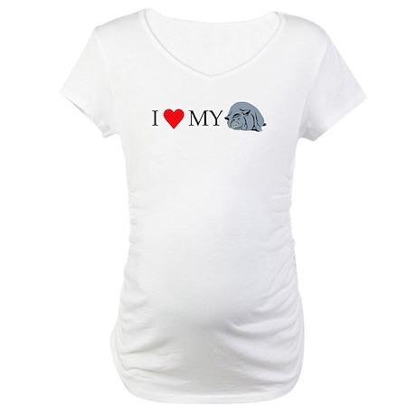 I Love My Pot Bellied Pig 2 Maternity T-Shirt